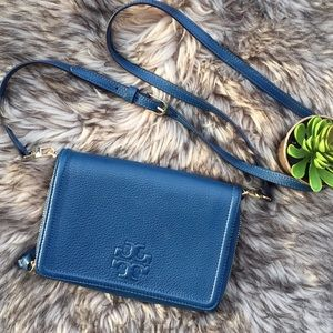Tory Burch Thea Leather Wallet CrossBody Bag